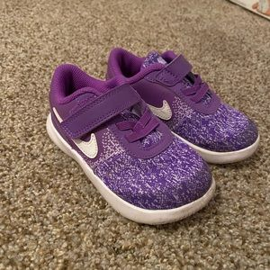 Toddler girl purple Nike shoes 8C